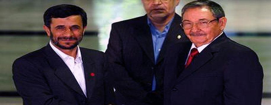 Iran's Ahmadinejad Pallies President Raul Castro