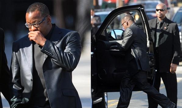 Bobby Brown leaves Whitney Houston's funeral in anger