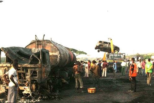 Explosion kills three in Lagos
