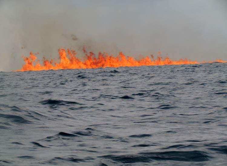 Chevron gas well fire off Nigeria coast no longer burning