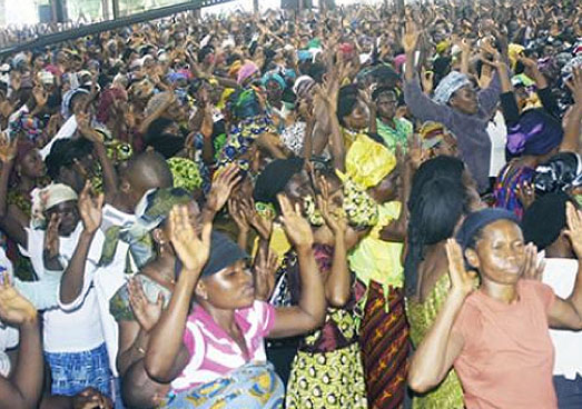 Lagos Churches Packed Full For New Year Cross-over Service