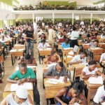 Candidates writing the Unified Tertiary Matriculation Examinations organised by JAMB
