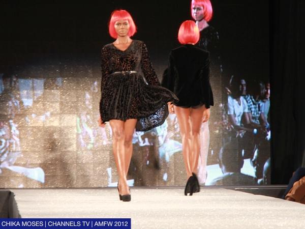 Technicolour shorts and red bob wigs; Re Bahia at the Arise Magazine Fashion Week