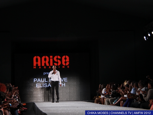Paul Herve Elisabeth designs on the Arise Magazine Fashion Week runway