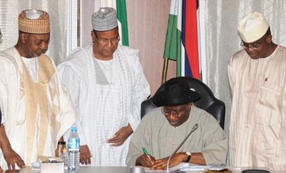 Jonathan seeks adjustment to 2012 budget