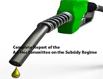 Full Report of the Ad-Hoc Committee on the subsidy regime in Nigeria