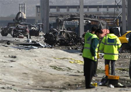 Suicide bombers kill seven after Obama leaves Afghan capital