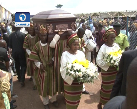 Ekiti Governor buries mother in style
