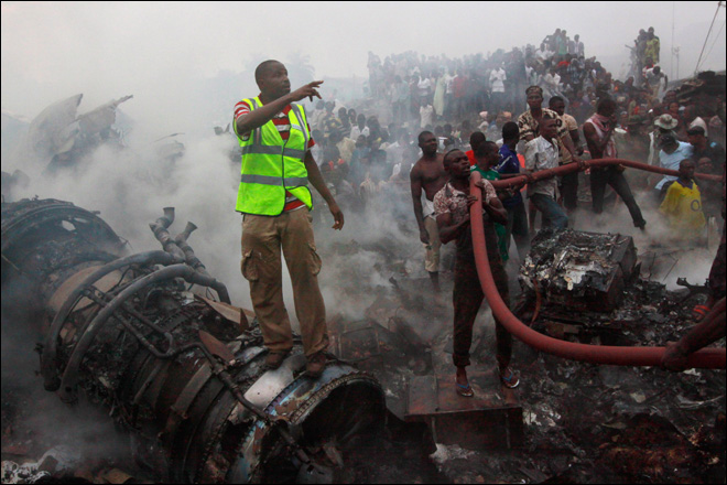 137 bodies removed from site of Dana plane crash