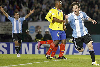 W.Cup Qualifying: Argentina tops group B as Messi shines