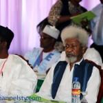 Prof. Wole Soyinka and Former Chairman, EFCC, Nuhu Ribadu