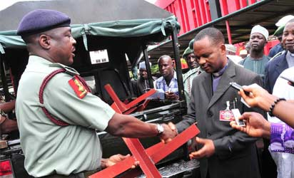 Army donates anti-bombing device to Churches, Mosques
