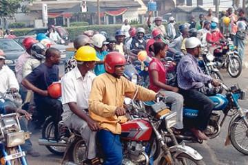 Okada riders protest new Lagos Traffic Law