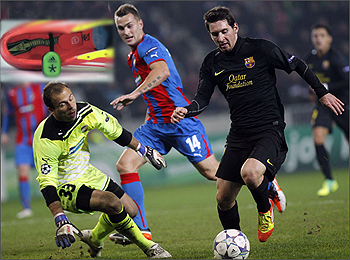 Boot with a Brain: Adidas F50 miCoach monitors Messi's performance