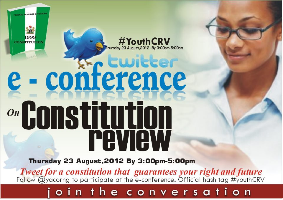 Nigerians to hold e-conference about constitution amendment on Twitter