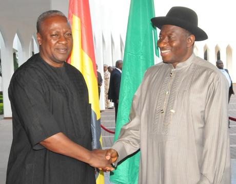 Ghana's President visits Jonathan