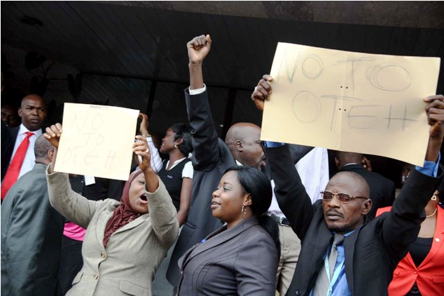 SEC workers stage another protest; insist Oteh must go