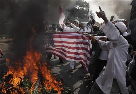 Anti-Islam film: Muslim protesters rage at United States in Asia
