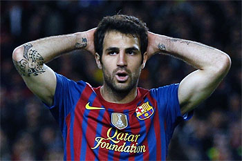 Fabregas frustrated over less playing time