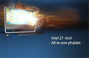 Intel unveils 27-inch all-in-on desktop tablet