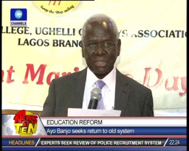 Univeristy don calls for return to old educational system