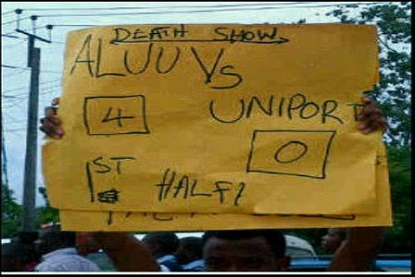 Updated: UNIPORT shut down as students protest death of slain colleagues