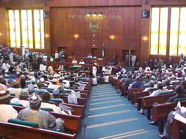 Sacked NIMC workers protest before Reps panel
