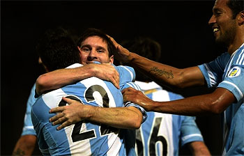 Messi leads Argentina to thrash Uruguay 3-0