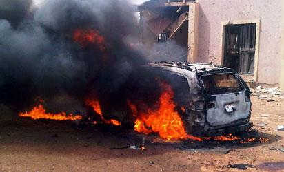 UPDATED: Twin bomb explosion rocks military barracks in Kaduna