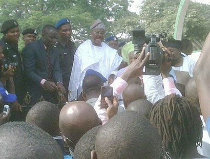 Ajimobi assures displaced traders of allocation as Gov. Amaechi commends Oyo development