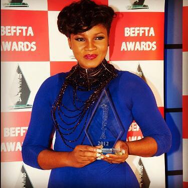 Nollywood actress Omotola receives BEFFTA award in London