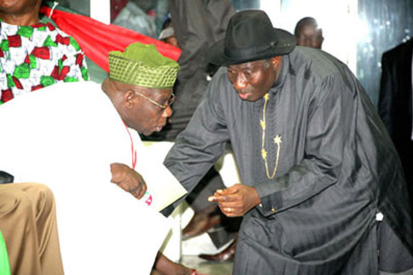Presidency Says Alleged Fight Between Jonathan And Obasanjo Is Mere Drama