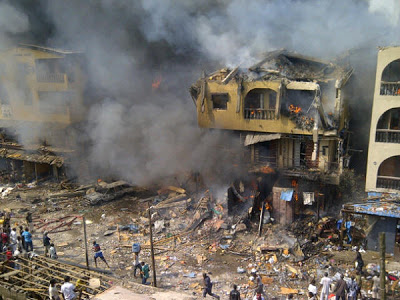 UPDATED: One dead as 15 houses burn in Lagos explosion