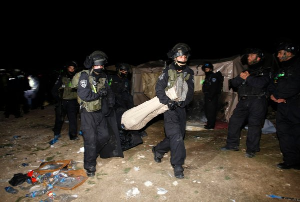 Israeli Evict Protesting Palestinians From A Site For Housing