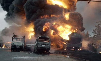 15 Feared Dead As Petrol Tanker Crashes Into Commercial Bus