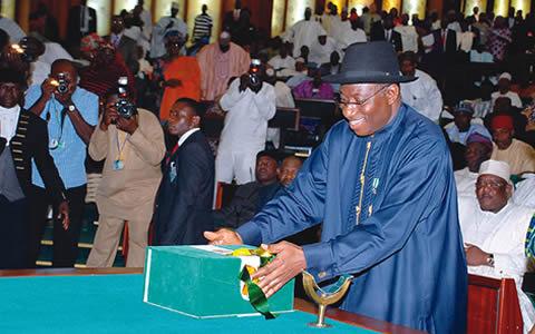 Jonathan Signs 2013 Budget Into Law