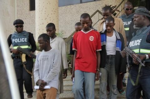Police Arraigns 7 Terror Suspects