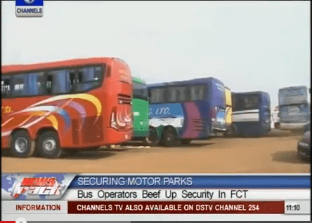 Abuja Bus Park Operatives Beef Up Security