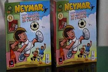 Santos Star;Neymar Launches Comic Book