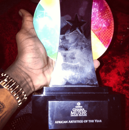 Wizkid Wins African Artist Of The Year At Ghana Music Awards Award
