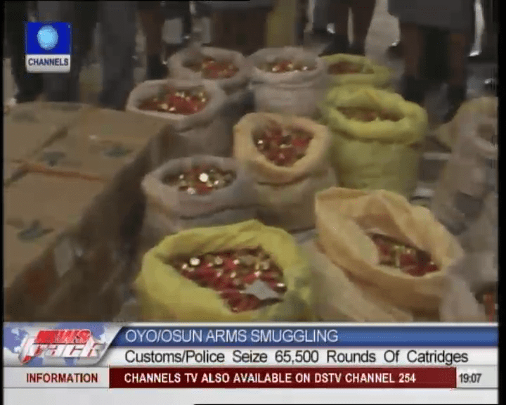 Customs/Police Seize 65, 000 Rounds Of Ammunition