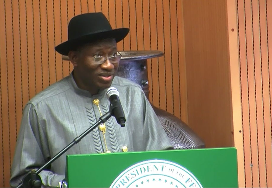President Jonathan Swears In New Ministers