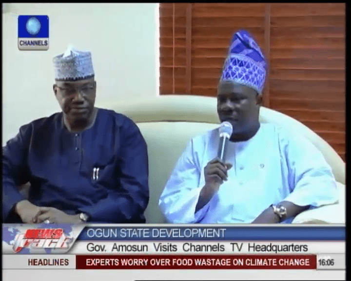 Amosun Visits Channels Television