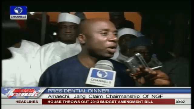 VIDEO: Amaechi Halts Governors Forum Meeting For Presidential Dinner