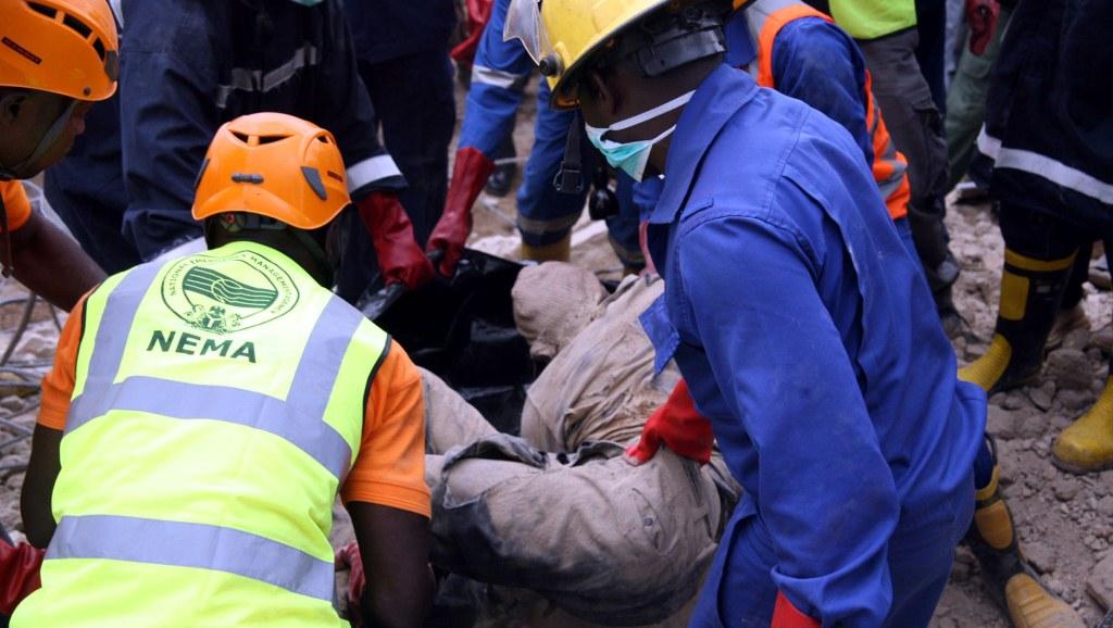 VIDEO:NEMA Confirms Three Dead In Lagos Building Collapse