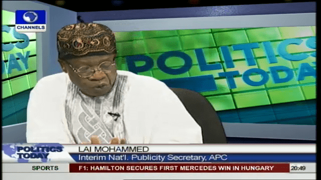Lai Muhammed Allays Fears Of INEC Not Registering APC