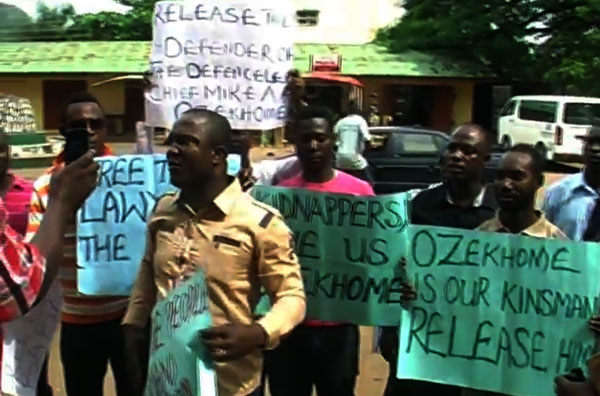 Ozekhome's Kinsmen Stage Peaceful Protest