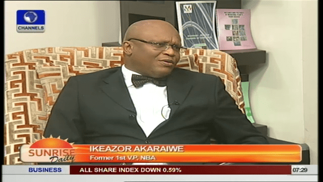 'Ineffectual' Justice System Is Responsible For Corruption In Nigeria- Akaraiwe
