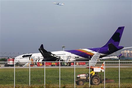Thai Airways Airbus 330 Skids Off Bangkok Runway, 14 Injured