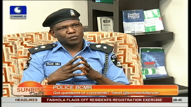Police BCMR Will Improve Security In Nigeria- Frank Mba